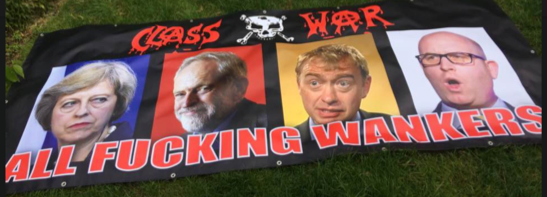 Jacob Rees-Mogg gets boned: protestor Ian Bone is an anarchist, so why is he being associated with Corbyn?